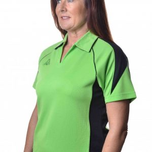 Hunter Ladies Polo Green Black 52301