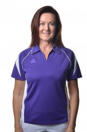Hunter Ladies Polo Purple White 52301