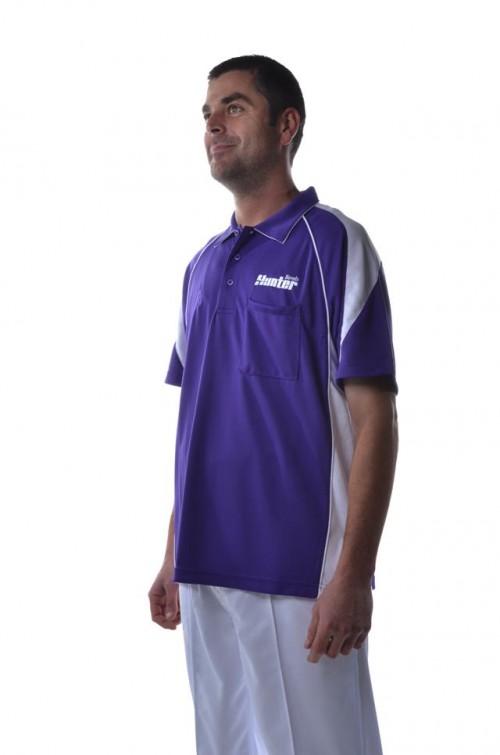 Hunter-Mens-Polo-Purple-White-51301