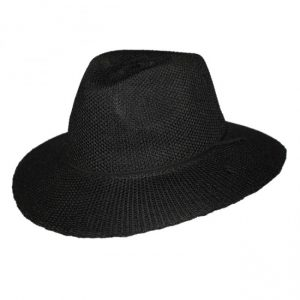 ladies-broad-brim-adjustable-hat-black