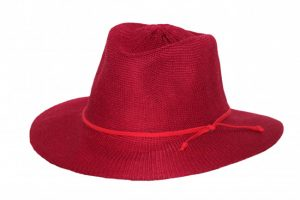 ladies-broad-brim-adjustable-hat-red