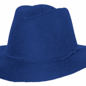 ladies-broad-brim-adjustable-hat-royal-blue